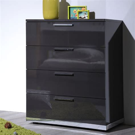 grey high gloss bedroom furniture sinatra grey high gloss finish 4 drawers chest of drawers 22