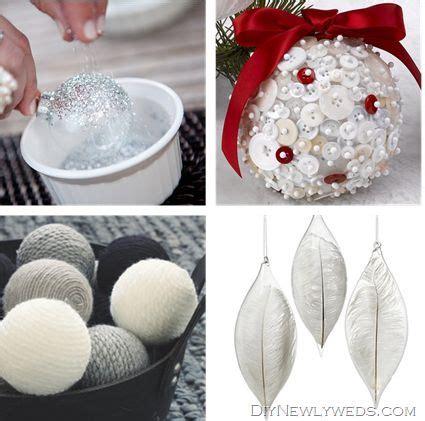 make white christmas ornaments noel pinterest