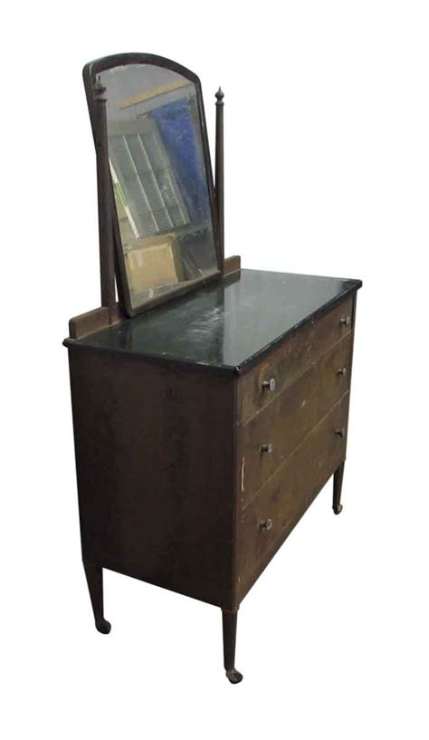 Vintage Metal Dresser With Mirror Olde Good Things Metal Bedroom Dresser