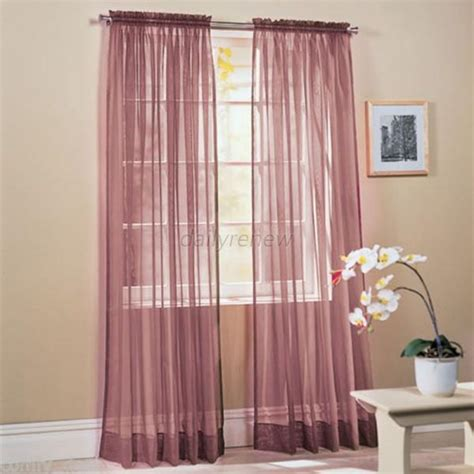 sheer colored curtains multi color door room voile window curtain sheer panel