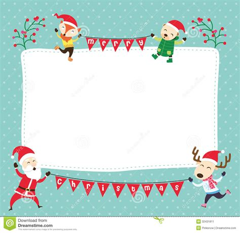 santa card template card templates word merry happy