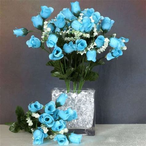 decorative stems for vases dried rose stems sharp thorns branches mini rose buds turquoise 252 pk silk flowers factory