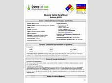 Msds aseton Nitric Acid Msds
