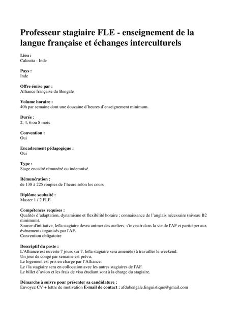 Exemple Lettre De Motivation Candidature Spontanée Organisation Internationale Lettre De Motivation Fle Employment Application