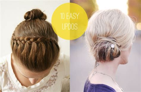 updo hairstyles you can do at home tuesday ten 10 easy hairstyles you can actually do with