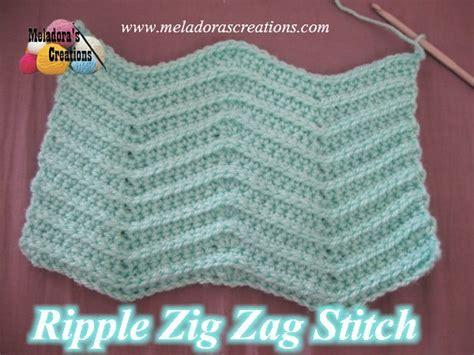zig zag crochet stitch pattern meladoras creations ripple zig zag stitch free crochet