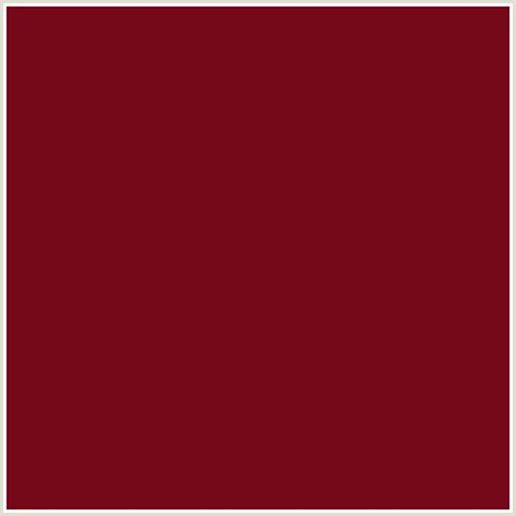 deep red color 750819 hex color rgb 117 8 25 dark burgundy red