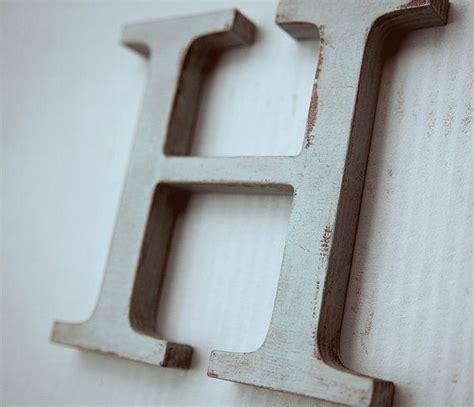 wooden alphabet letters vintage decorative letter h