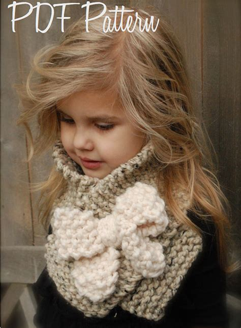 knitting pattern for child s scarf uk knitting pattern the bowlynn scarf toddler child adult