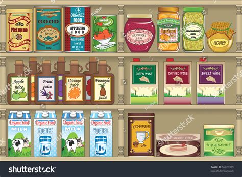 grocery store stock vector 56923309
