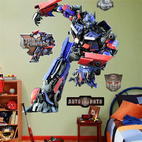 Our City Am 9030 Stiker Dinding Wall Sticker 1 optimus prime wall decal shop fathead 174 for transformers