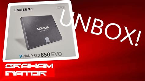 unboxing a samsung v nand ssd 850 evo