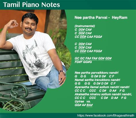 tamil theme songs keyboard notes tamil piano notes nee partha parvai heyram