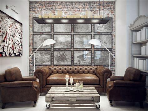 Exceptionnel Decoration Chambre A Coucher #6: salon-bibliotheque-design-rustique.jpg