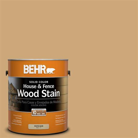 behr 1 gal sc 127 beige solid color house and fence wood stain 01101 the home depot