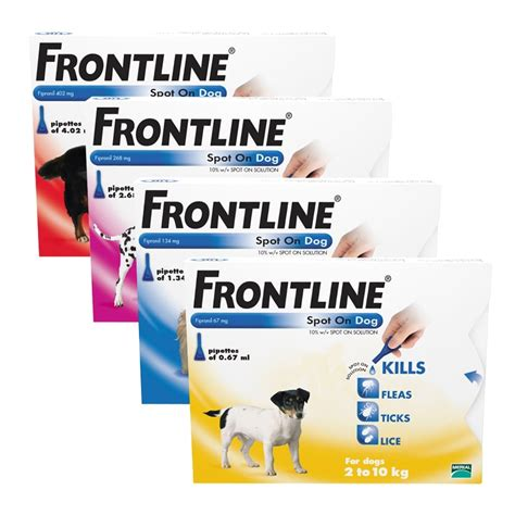 frontline for dogs frontline spot on for dogs flea ticks manor pharmacy