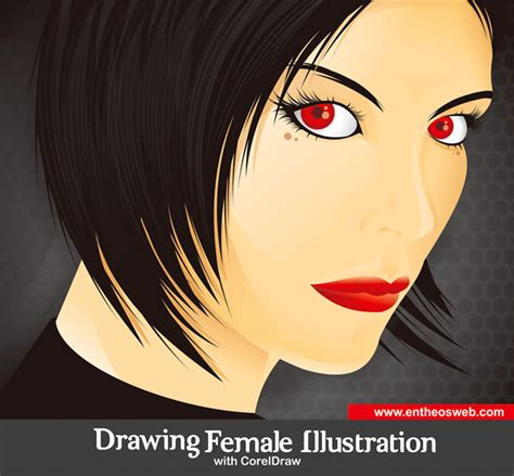tutorial corel draw vector drawing a female illustration with corel draw coreldraw