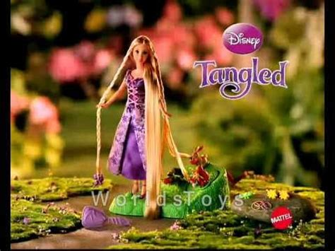 commercial with donald trump doll 2010 disney tangled rapunzel hair braider