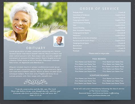 20 memorial program templates free psd ai eps format
