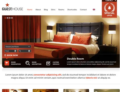 theme hotel unlimited money 10 wordpress themes bars hotels and cafes wp solver