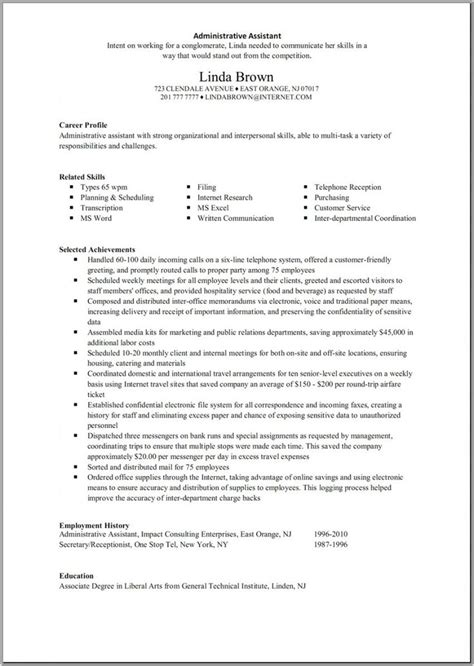 26 best best administration resume templates sles