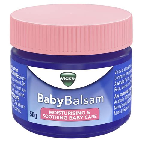 Vicks Baby Balsam buy vicks baby balsam decongestant chest rub 50g at
