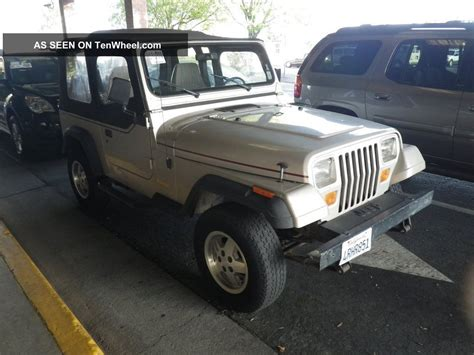 Jeep Cylinder 1995 Jeep Wrangler 4 Cyl 5sp 4x4 60 Day Layaway
