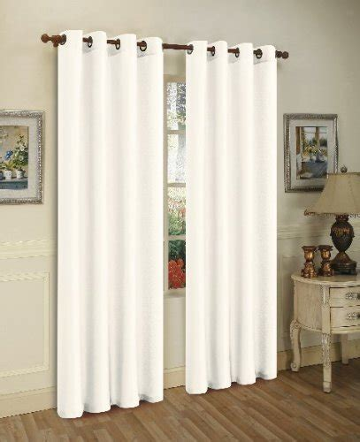 solid white curtain panels 2 piece solid white faux silk grommet curtain panel 58 by