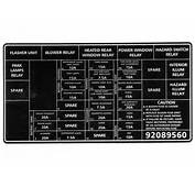 Holden Decal Fuse Panel VX Commodore  92089560