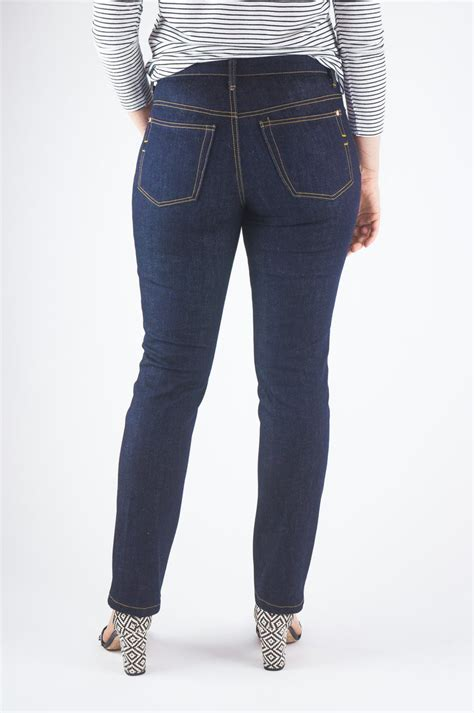 pattern in jeans ginger mid rise jeans the fold line