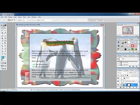 membuat watermark transparan photoshop tutorial photoshop cara membuat gambar latar belakang