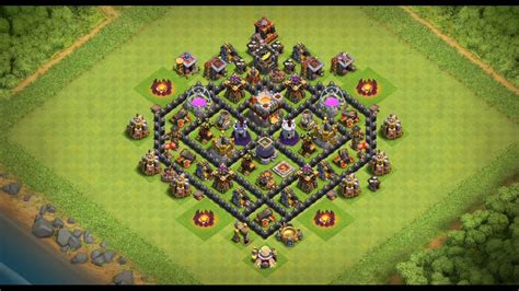 coc special layout undefeated town hall 7 th7 heart base valentine