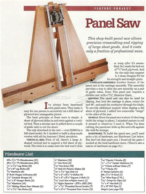 woodworking panel saws image of 382 panel saw plans oficina