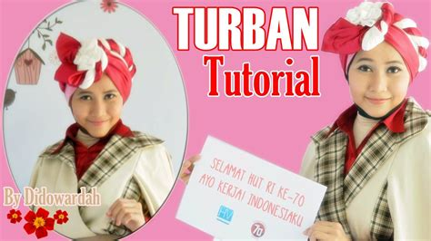tutorial hijab turban segi empat youtube tutorial hijab turban segi empat pesta edisi hut ri 70 by
