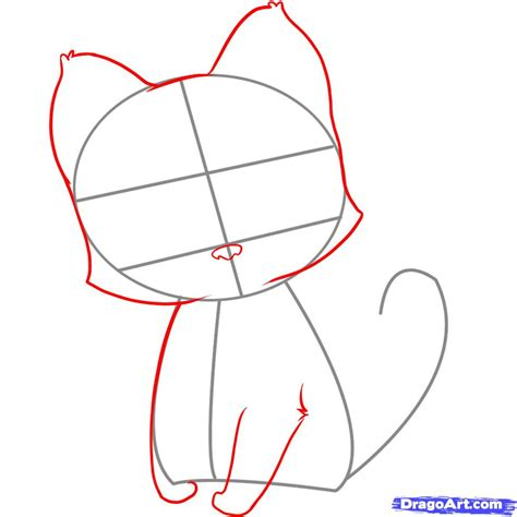 how to draw how to draw an easy kitten step by step pets animals