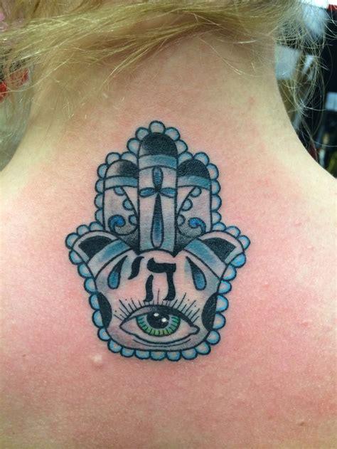 hand tattoo jewish christian jewish combo hamsa hand tattoo artwork