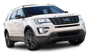 Suv Cars White Ford Explorer Suv Car Png Image Pngpix