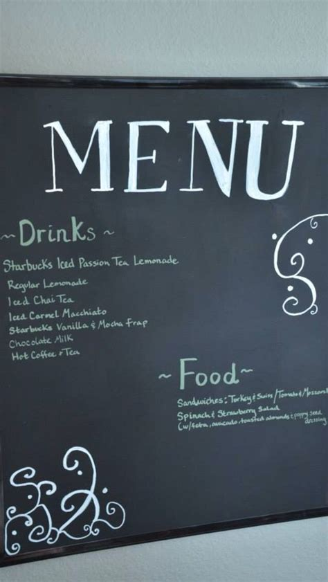 chalkboard paint on poster board 17 best images about starbucks on