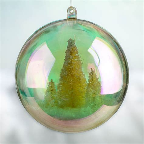 100mm aurora borealis acrylic fillable ball ornament