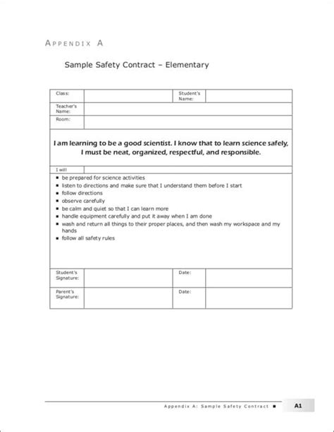 14 safety contract sles templates free word pdf