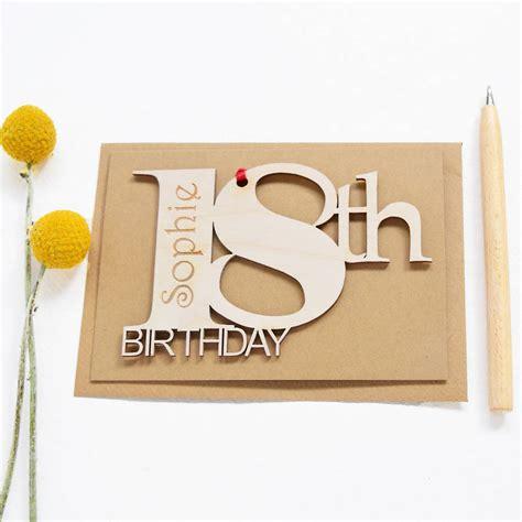 18th Birthday Card Designs Personalised 18th Birthday Card By Hickory Dickory Designs