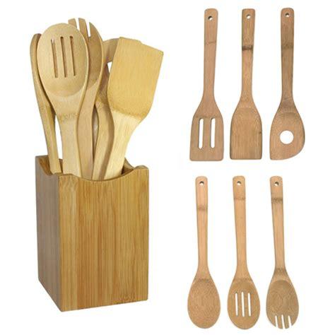 Spatula Oxone 1 Set 6pcs kitchen tools 6pcs bamboo spoon spatula kitchen utensil wooden cooking tool mixing set in