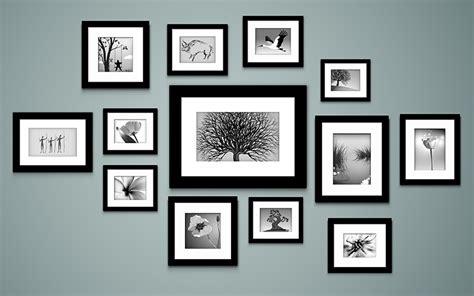 Wand Mit Vielen Bilderrahmen by Bilderrahmen Collage Gestalten Farben Shop Farbe
