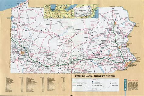 pennsylvania in usa map large detailed map of pennsylvania turnpike system 1971