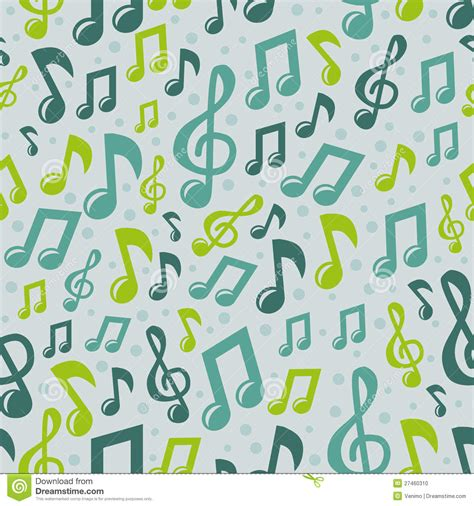 pattern song vector music seamless pattern with icons stock photo