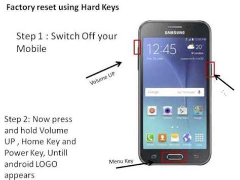 Reset Samsung J2   samsung galaxy j2 hard reset youtube