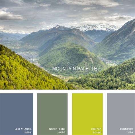 the colors of the mountain 11 beautiful color palettes inspired by nature