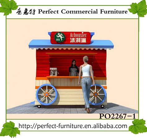 design booth burger outdoor mobile kiosk milk for soft ice cream burger house