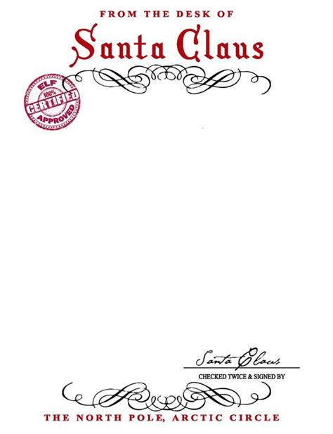 santa letter template word santa claus letterhead will bring lots of to