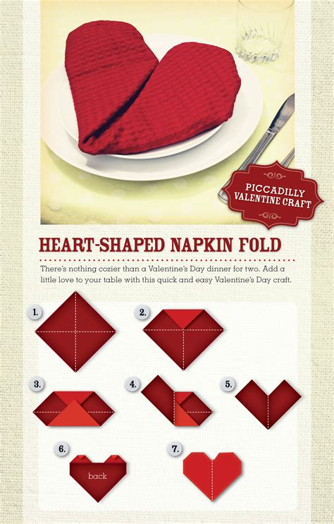 How To Do Napkin Origami - shaped napkin folding how to 247moms valentines
